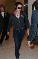 KRISTEN STEWART Back at LAX Airport in Los Angeles