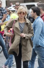 KRISTEN WIIG Out and About in Rome