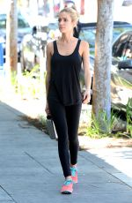 KRISTIN CAVALLARI in Tights Out and About in Los Angeles 04/27/2015