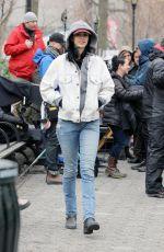 KRYSTEN RITTER on the Set of A.K.A. Jessica Jones in New York