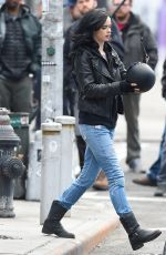 KRYSTER RITTER on the Set of A.K.A. Jessica Jones in New York