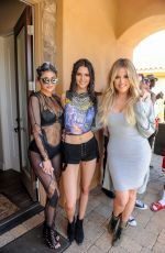 KYLIE and KENDALL JENNER and KHLOE KARDASHIAN at Regroupd Retreat Coachella Pool Party in Bermuda Dunes