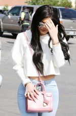 KYLIE JENNER Arrives at Church in Agoura Hills