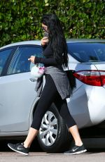 KYLIE JENNER in Leggings Out and About in Calabasas 04/26/2015