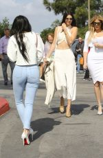 KYLIE JENNER in Tight Jeans and High Heels Out in Agoura Hills
