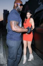 KYLIE JENNER in Tight Mini Dress Night Out in Los Angeles