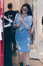 KYLIE JENNER Shopping at Fred Segal in Los Angeles