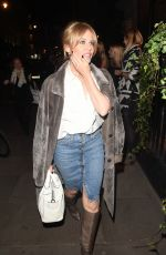 KYLIE MINOGUE Arrives at Town House Restaurant in London