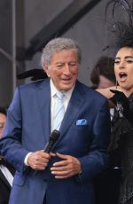 LADY GAGA and Tony Bennett Performs at New Orleans Jazz & Heritage Festival