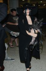 LADY GAGA Arrives at LAX Airport in Los Angeles