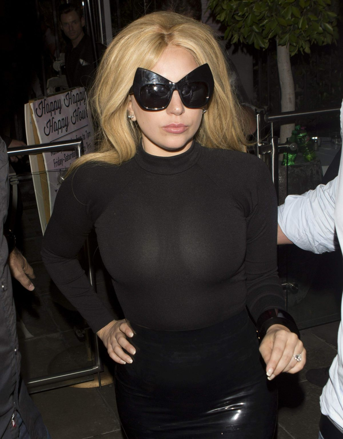 Gaga upskirt no pants