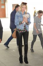 LAURA WHITMORE Arrives at BBC Studios in London 04/23/2015