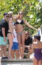 LAUREN STONER in Bikini on the Beach in Miami 04/19/2015