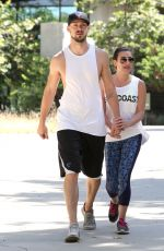 LEA MICHELE and Matthew Paetz Out Hiking in Beverly Hills 04/18/2015