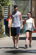 LEA MICHELE and Matthew Paetz Out Hiking in Los Angeles