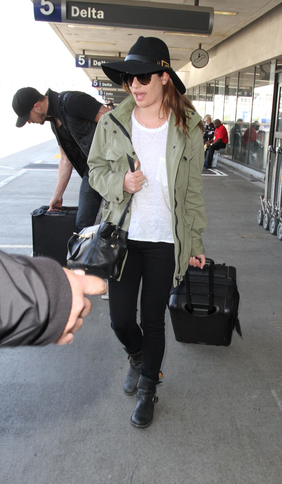 LEA MICHELE at Los Angeles International Airport
