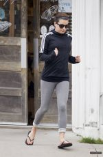 LEA MICHELE Heading to s Spa in Los Angeles