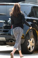 LEA MICHELE Leaves a Nail Salon in Los Angeles