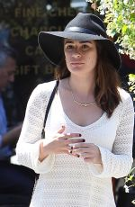 LEA MICHELE Out and About in West Hollywood 04/29/2015