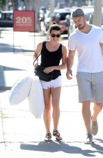 LEA MICHELLE in Shorts Out Shopping in Los Angeles 04/28/2015