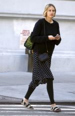 LEELEE SOBIESKI Out and About in New York 04/28/2015