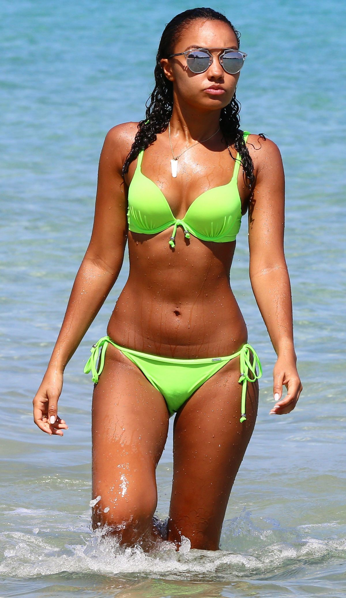 LEIGH-ANNE PINNOCK in Bikini at a Beach in Jamaica