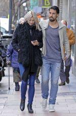 LENA GERCKE and Sami Khedira Out Shopping in Madrid 29/01/2015
