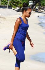 LEOGH-ANNE PINNOCK Jogging on the Beach in Jamaica