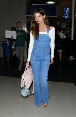 LILY ALDRIDGE Arrives at Los Angeles International Airport