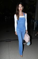 LILY ALDRIDGE Arrives at Los Angeles International Airport
