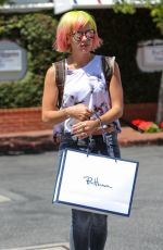 LILY ALLEN Leaves Fred Segal in Los Angeles