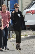 LILY COLLINS and Her Mom Out and About in Los Angeles