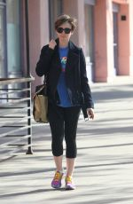 LILY COLLINS Heading to a Gym in West Hollywood 04/18/2015