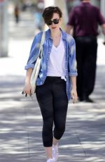 LILY COLLINS Leaves a Pilates Class in West Hollywood 04/29/2015