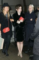 LILY COLLINS Leaves Chanel Paris-Salzburg Metiers D'Art Collection Launch in New York