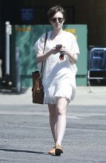 LILY COLLINS Out and About in West Hollywood 04/18/2015