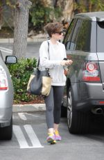 LILY COLLINS Out and About n Los Angeles 04/20/2015