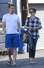 LILY COLLINS Out in Los Angeles
