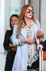LINDSAY LOHAN Arrives at Airport in Nice