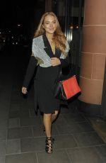 LINDSAY LOHAN Arrives to C Restaurant in London