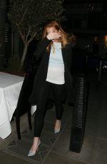 LINDSAY LOHAN at Pescheria Mattiucci Restaurant in London