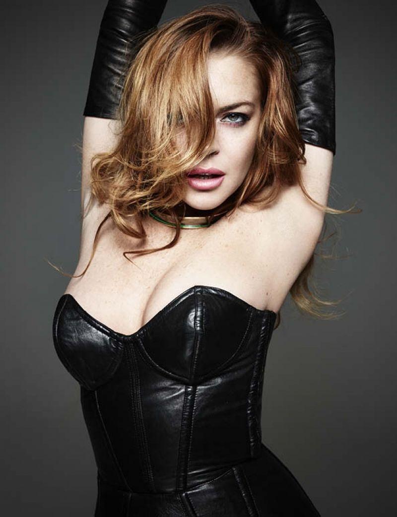 LINDSAY LOHAN – Homme Style Spring/Summer 2015 Lindsay Lohan