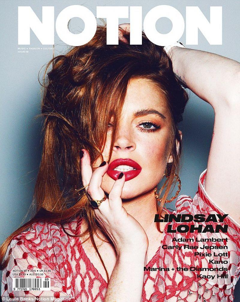 LINDSAY LOHAN in Notion Magazine