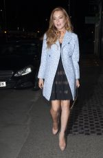 LINDSAY LOHAN Night Out in London