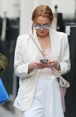 LINDSAY LOHAN Out Shopping at Bond Street in London 04/24/2015