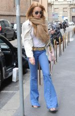 LINDSAY LOHAN Out Shopping in Milan 04/28/2015