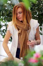 LINDSAY LOHAN Shopping in Milan 04/28/2015