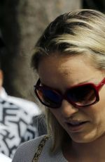 LINDSEY VONN Out and About in Augusta