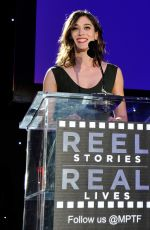 LIZZY CAPLAN at 4th Annual Reel Stories Real Lives Benefit in Hollywood