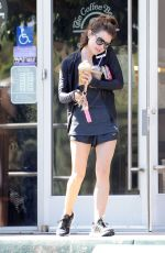 LUCY HALE Leaves Coffee Bean in Studio City 04/28/2015